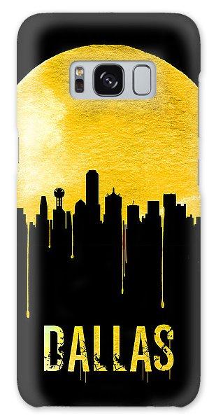 Dallas Skyline Yellow Galaxy Case by Naxart Studio
