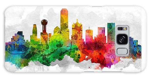 Dallas Texas Cityscape 12 Galaxy Case by Aged Pixel