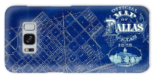 Dallas Texas Official 1875 City Map Blueprint Butterfield And Rundlett Galaxy Case