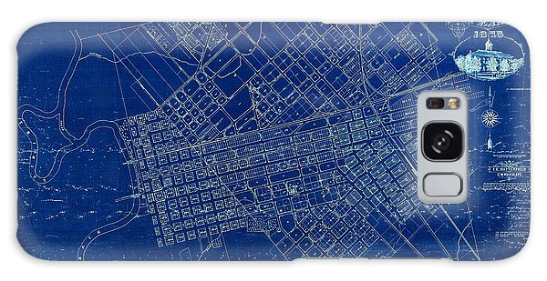 Dallas Texas Official 1875 City Map Blueprint Butterfield And Rundlett Galaxy Case