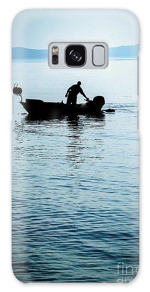 Dalmatian Coast Fisherman Silhouette, Croatia Galaxy Case