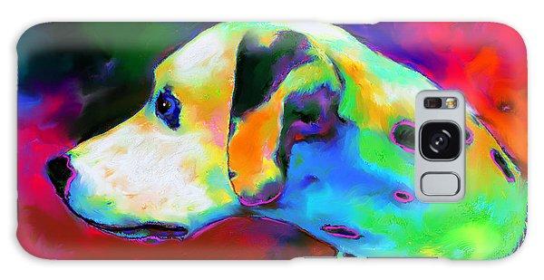 Dalmatian Dog Portrait Galaxy Case