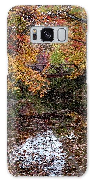 Danbury Bridge In Fall Galaxy Case