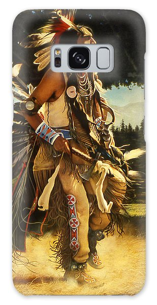 Indian Head Galaxy Case - Dance Of His Fathers by Greg Olsen