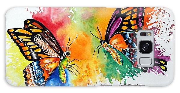 Dance Of The Butterflies Galaxy Case by Maria Barry
