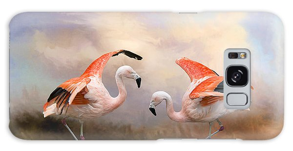 Dance Of The Flamingos  Galaxy Case