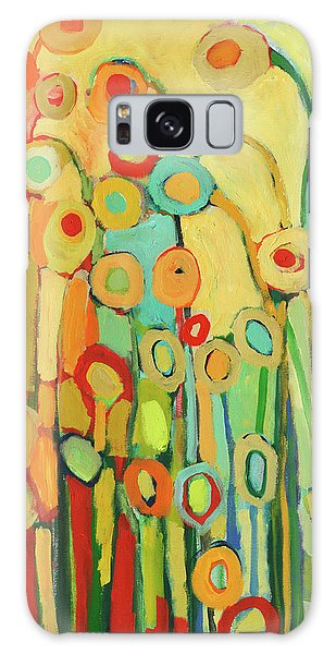 Floral Garden Galaxy Case - Dance Of The Flower Pods by Jennifer Lommers
