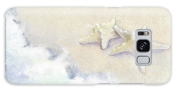 Galaxy Case featuring the painting Dance Of The Sea - Knobby Starfish Impressionstic by Audrey Jeanne Roberts