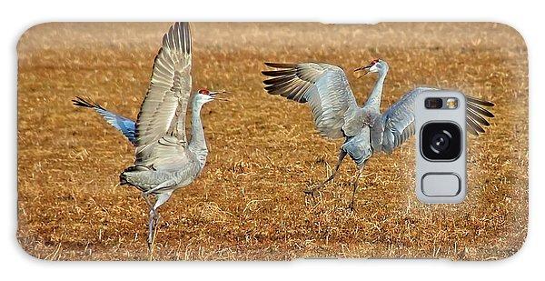 Dance Ritual, Sandhill Cranes Galaxy Case