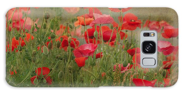 Dance Through The Poppies Galaxy Case