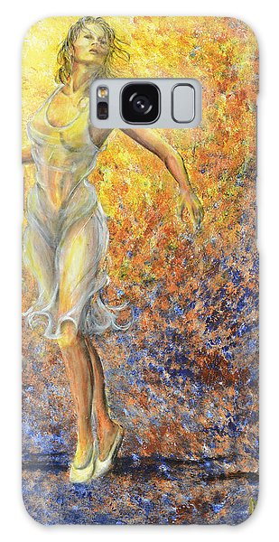 Dancer Away Galaxy Case by Nik Helbig