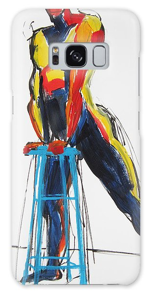 Dancer With Drafting Stool Galaxy Case