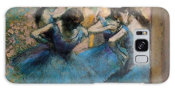 Impressionism Galaxy Case - Dancers In Blue by Edgar Degas