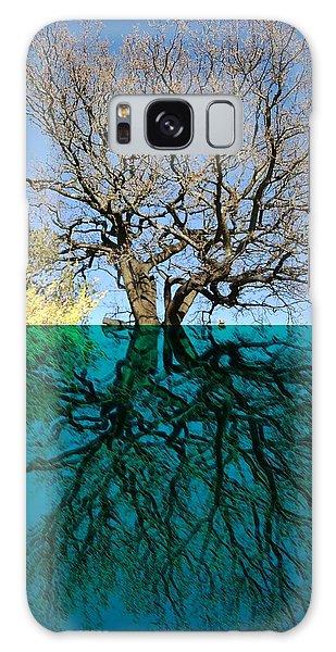 Dancers Tree Reflection  Galaxy Case