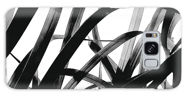 Dancing Bamboo Black And White Galaxy Case
