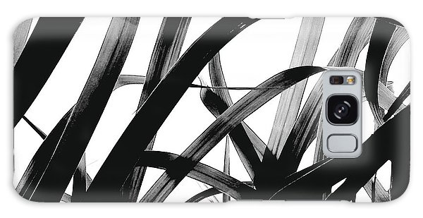 Dancing Bamboo Black And White Galaxy Case by Rebecca Harman