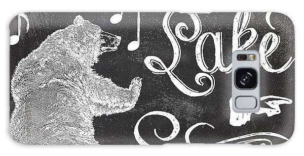 Rustic Galaxy Case - Dancing Bear Lake Rustic Cabin Sign by Mindy Sommers