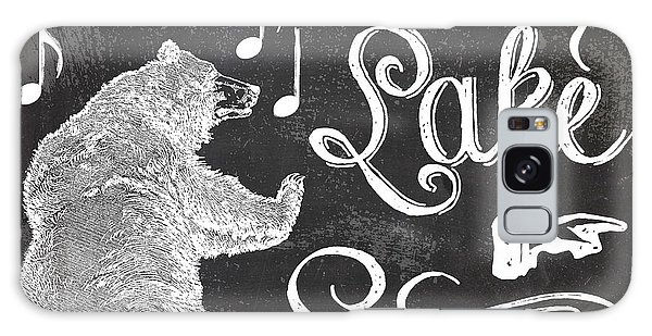 Lake Galaxy Case - Dancing Bear Lake Rustic Cabin Sign by Mindy Sommers