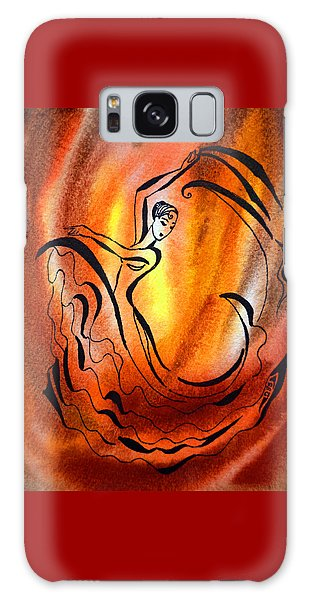 Dancing Fire I Galaxy Case
