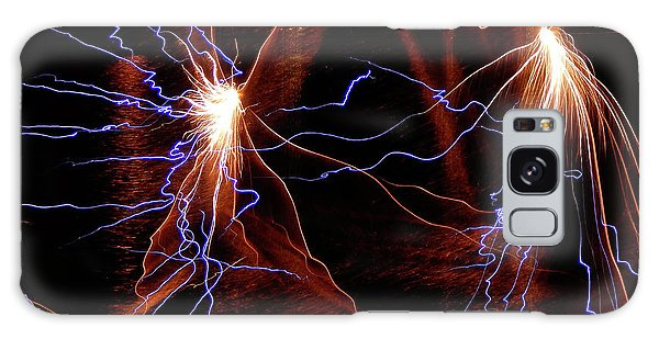Galaxy Case featuring the photograph Dancing Fireworks #0707 by Barbara Tristan