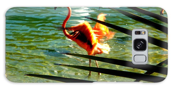 Dancing Flamingo Galaxy Case by Yolanda Rodriguez