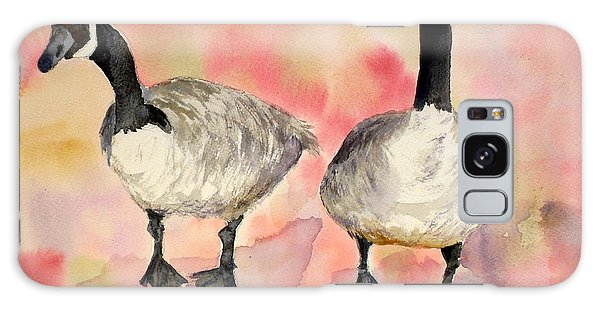 Dancing Geese Galaxy Case by Vicki  Housel