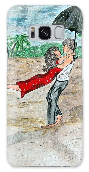 Dancing In The Rain On The Beach Galaxy Case