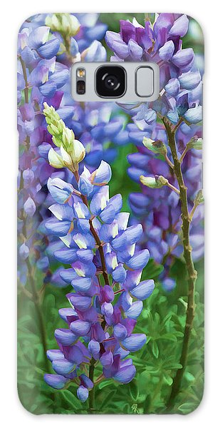 Galaxy Case featuring the photograph Dancing Lupines - Spring In Central California by Ram Vasudev