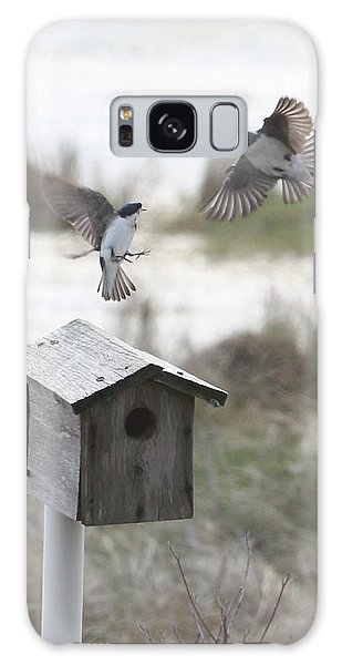 Dancing Tree Swallows Galaxy Case