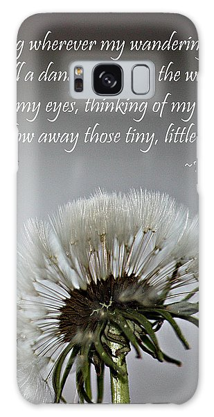 Dandelion Dreams- Fine Art And Poetry Galaxy Case