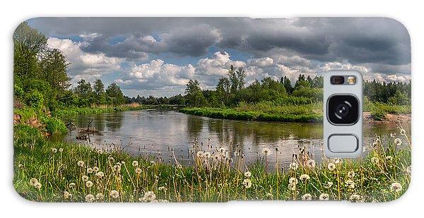 Dandelion Field On The River Bank Galaxy Case