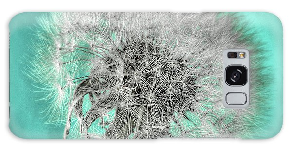 Dandelion In Turquoise Galaxy Case by Tamyra Ayles
