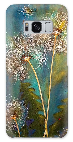 Dandelion Wishes Galaxy Case