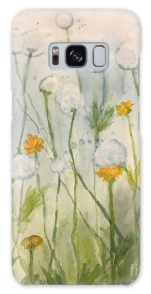 Dandelions Galaxy Case by Lucia Grilletto