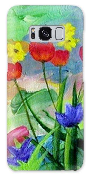 Daria's Flowers Galaxy Case by Jamie Frier
