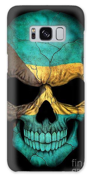 Bahamas Galaxy Case - Dark Bahamas Flag Skull by Jeff Bartels