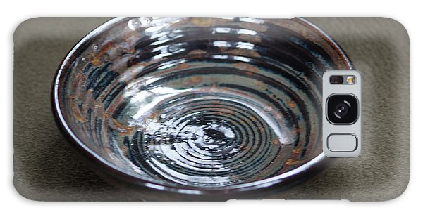 Dark Brown And Red Ceramic Bowl Galaxy Case by Suzanne Gaff