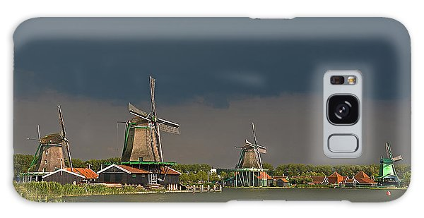 Dark Clouds Above Zaanse Schans Galaxy Case