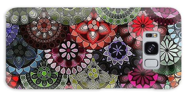 Galaxy Case - Dark Flower by Lisa Marie Towne