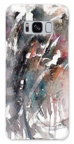 Galaxy Case - Dark Flowers by Rachel Christine Nowicki
