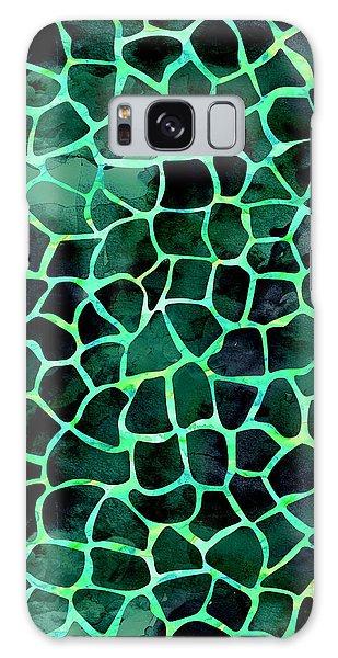 Dark Green Giraffe Print Galaxy Case