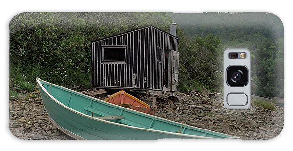 Dark Harbour Fisherman Shack And Boat Galaxy Case