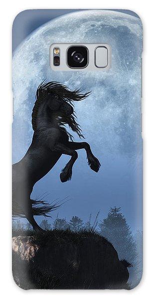 Dark Horse And Full Moon Galaxy Case by Daniel Eskridge