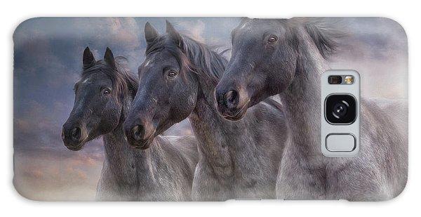 Dark Horses Galaxy Case by Debby Herold