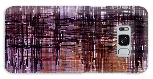Dark Lines Abstract And Minimalist Painting Galaxy Case by Ayse Deniz