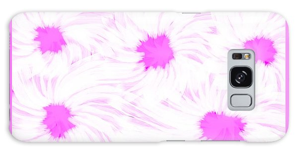 'dark Pink And White Flower Abstract' Galaxy Case