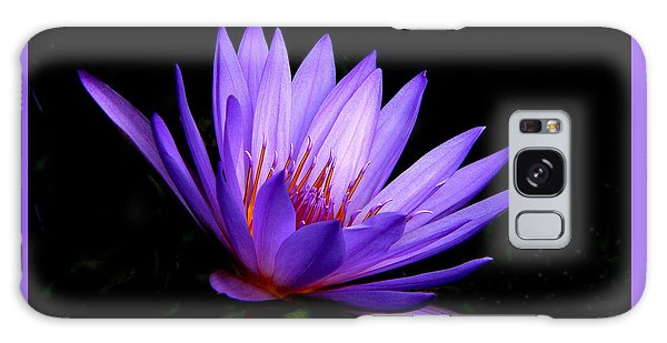 Dark Side Of The Purple Water Lily Galaxy Case