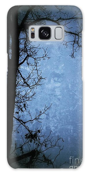 Dark Tree Silhouette  Galaxy Case