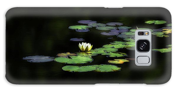Galaxy Case featuring the photograph Dark Water Lily by Bill Wakeley