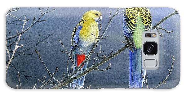 Darkness Before The Deluge - Pale-headed Rosellas Galaxy Case